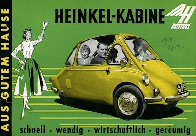 Heinkel Kabine Prospekt 1950er Jahre
