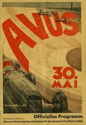 Programm AVUS 30.5.1937