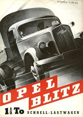 Opel Blitz Prospekt 1948