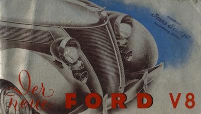 Ford V 8 Prospekt 1937