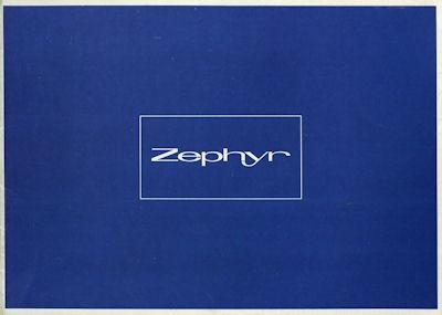 Ford Zephyr 4 + 6 Prospekt ca. 1966