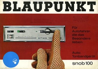 Auto-Tonbandgerät Blaupunkt Snob 100 Prospekt 1967