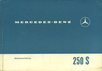 Mercedes-Benz 250 S Bedienungsanleitung 1966