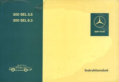 Mercedes-Benz 300 SEL 6.3 Bedienungsanleitung 1972 s