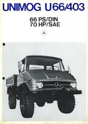 Mercedes-Benz Unimog U 66/403 Prospekt 1973 Nr. MB-Uni730 ...
