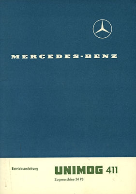 Mercedes-Benz Unimog 411 Bedienungsanleitung 1965