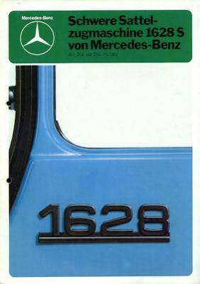 Mercedes-Benz Schwere Sattelzugmaschine 1628 S Prospekt 1980