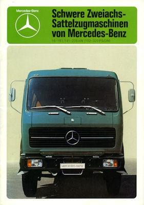 Mercedes-Benz Schwere Sattelzugmaschinen Prospekt 1980