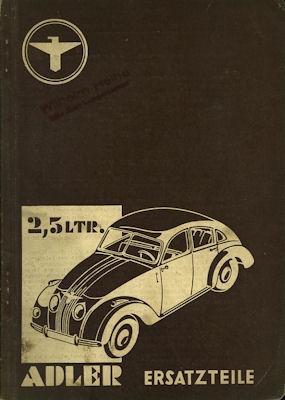 Adler 2,5 Ltr. Ersatzteilliste 12.1938