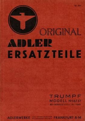 Adler Trumpf 1,7 EV Ersatzteilliste 3.1937