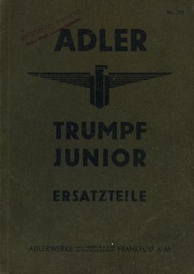Adler Trumpf Junior Ersatzteilliste 5.1934