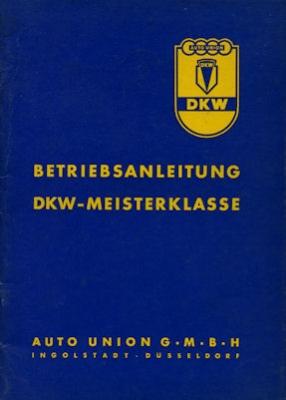 DKW Meisterklasse Bedienungsanleitung 2.1954