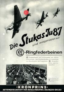 Junkers Ju 87 Stuka / Kronprinz Kleinplakat 1940er Jahre