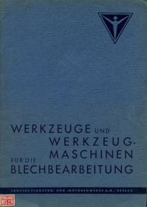Junkers Werkzeuge Katalog 1939