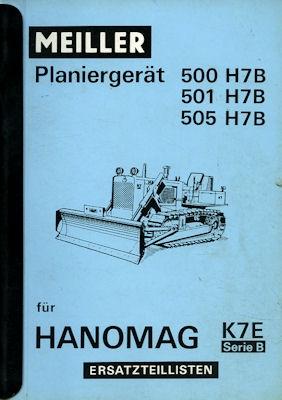 Meiller Planiergerät Ersatzteillisten 1965