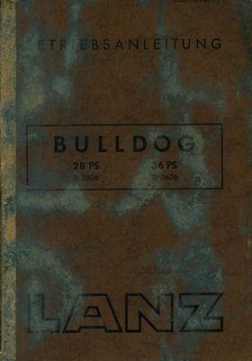 Lanz Bulldog 28 PS 36 PS Bedienungsanleitung 7.1953