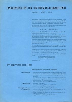Porsche Flugmotoren Einbauvorschrift 8.1957