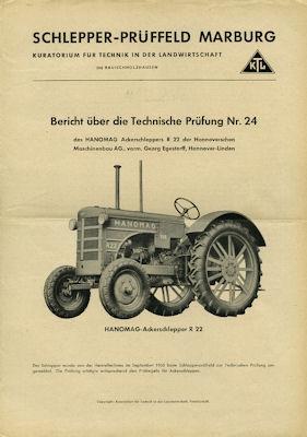 Hanomag R 22 Bericht über technische Prüfung 9.1950