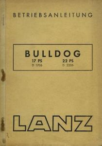 Lanz Bulldog 17 PS 22 PS Bedienungsanleitung 10.1952