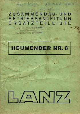Lanz Heuwender Nr.6 1.1944