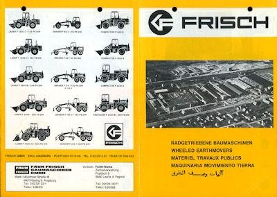 Faun-Frisch Baumaschinen Programm 1980er Jahre