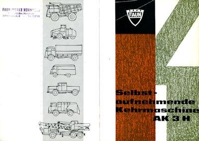 Faun Type AK 3 H Prospekt 1960er Jahre