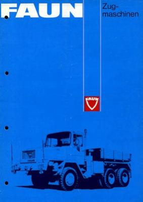 Faun Zugmaschinen Programm 1970er Jahre
