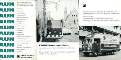 Faun Programm ca. 1960