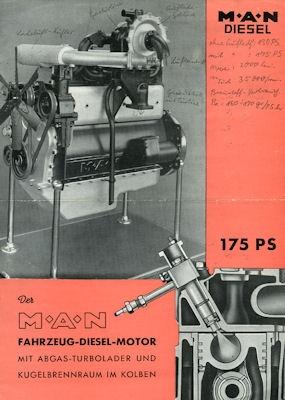 MAN Motor D 1546 GT Prospekt ca. 1951