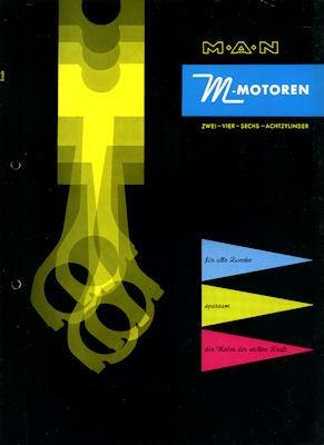 MAN M Motoren Prospekt ca. 1958