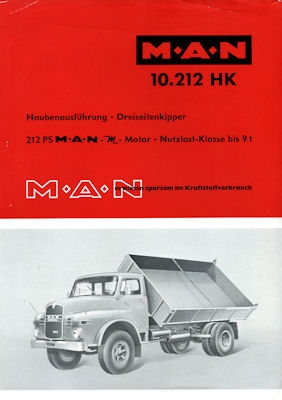 MAN Typ 10.212 HK Prospekt 1960er Jahre