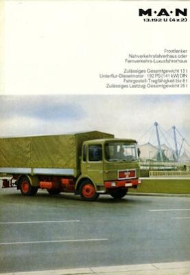 MAN Typ 13.192 U (4x2) Prospekt 1960er Jahre