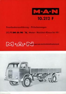 MAN Typ 10.212 F Prospekt 1960er Jahre