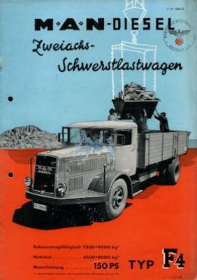 MAN Typ F 4 Prospekt ca. 1939