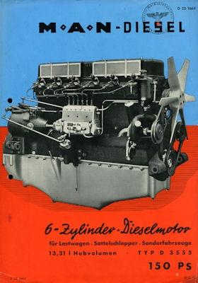 MAN Motor Typ D 3555 Prospekt ca. 1939