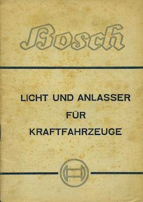 Bosch Licht und Anlasser für Kraftfahrzeuge 10.1941