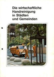 Vespa Kommunalfahrzeuge Programm 1970er Jahre