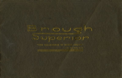 Brough Superior Programm 1926
