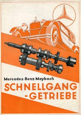 Mercedes-Benz-Maybach Schnellgang Getriebe Prospekt 8.1930