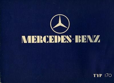 Mercedes-Benz Typ 170 Prospekt 1.1933