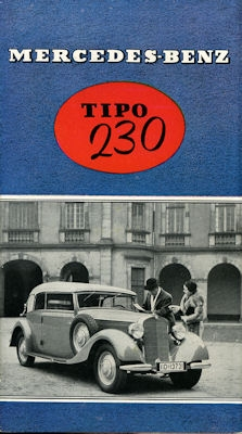 Mercedes-Benz Typ 230 Prospekt 1938 port