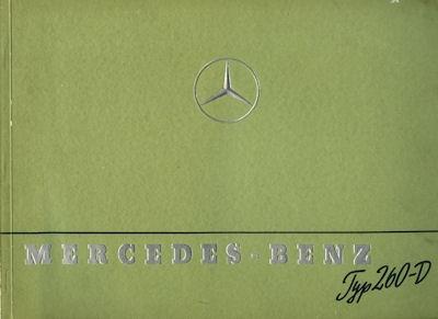 Mercedes-Benz Typ 260 D Prospekt 1939
