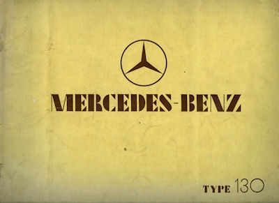 Mercedes-Benz Typ 130 Prospekt 1.1934 e