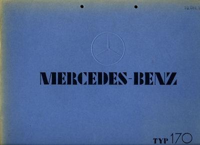 Mercedes-Benz Typ 170 Prospekt 2.1934