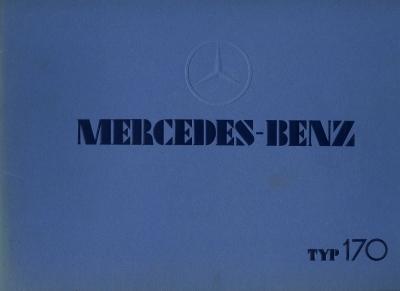 Mercedes-Benz Typ 170 Prospekt 1934/1975 Reprint