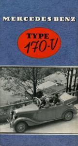 Mercedes-Benz Typ 170 V Prospekt 1938 f