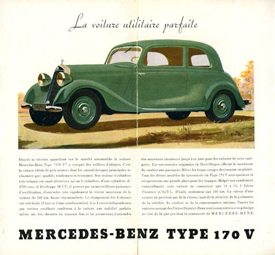 Mercedes-Benz Typ 170 V Prospekt 1938 f 1