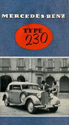 Mercedes-Benz Typ 230 Prospekt 1938 f