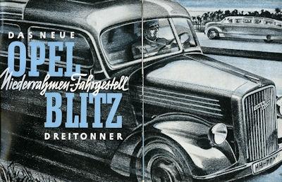 Opel Blitz 3 to Prospekt 1930er Jahre