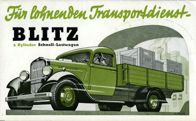 Opel Blitz 2-2,5 to Prospekt 1930er Jahre
